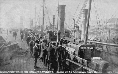 dogger_bank_russian_outrage_incident_1904_st_andrews_dock_hull_postcard